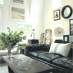 Living Room Ideas With Black Leather Sofa Ceiling Design Philippines How To Decorate A Decoholic Industrial Style And Wal Art Collection Decor