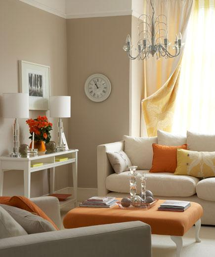 orange yellow and brown living room ideas wall painting designs for 5 make it more inviting welcoming decoholic beige walls idea