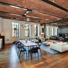 Decorating Ideas For Living Room With Corner Fireplace Elegant Chairs $18,500,000 Luxury Loft In Soho - Decoholic