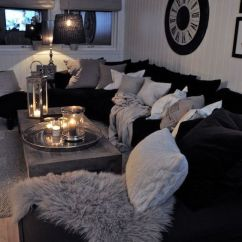 Black And White Themed Living Room Ideas Red Curtains For 48 Decoholic Idea 19