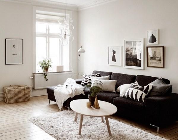 black and white living room interior design 48 Black and White Living Room Ideas - Decoholic