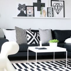 Black And White Living Room Furniture Ideas Leather Chair With Ottoman 48 Decoholic Idea 45