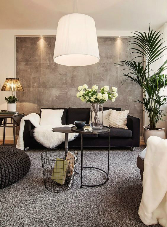 modern interior design living room black and white leather chair 48 ideas decoholic idea 7