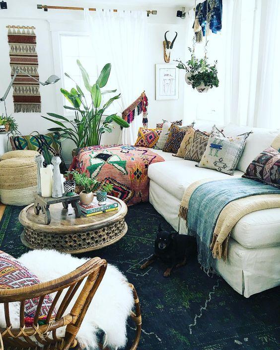 bohemian living room decor ideas cupboard furniture 26 decoholic livin decorating idea 8
