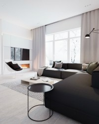 Minimalist Black and White Interior - Decoholic