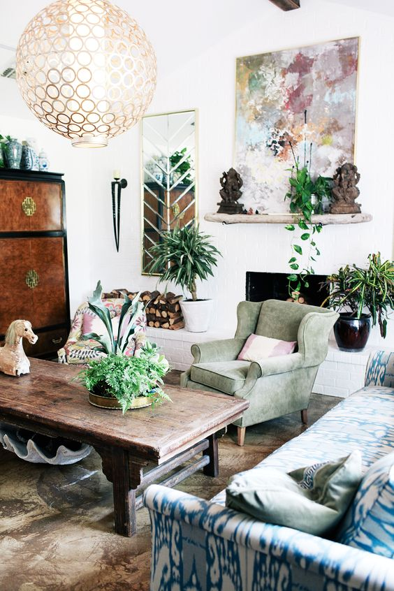 bohemian style living room lime green and red ideas 26 decoholic colorful 5