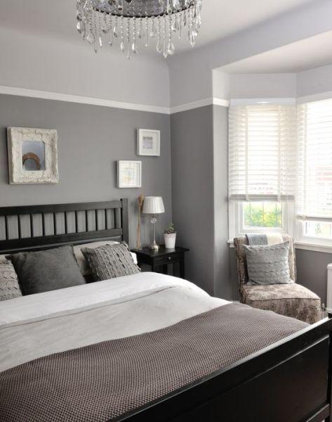 white walls grey ceiling bedroom 40 Gray Bedroom Ideas - Decoholic