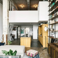 Kitchen Island Marble Top Subway Tiles Transitioning A Sprawling Industrial Loft To Cozy Home ...