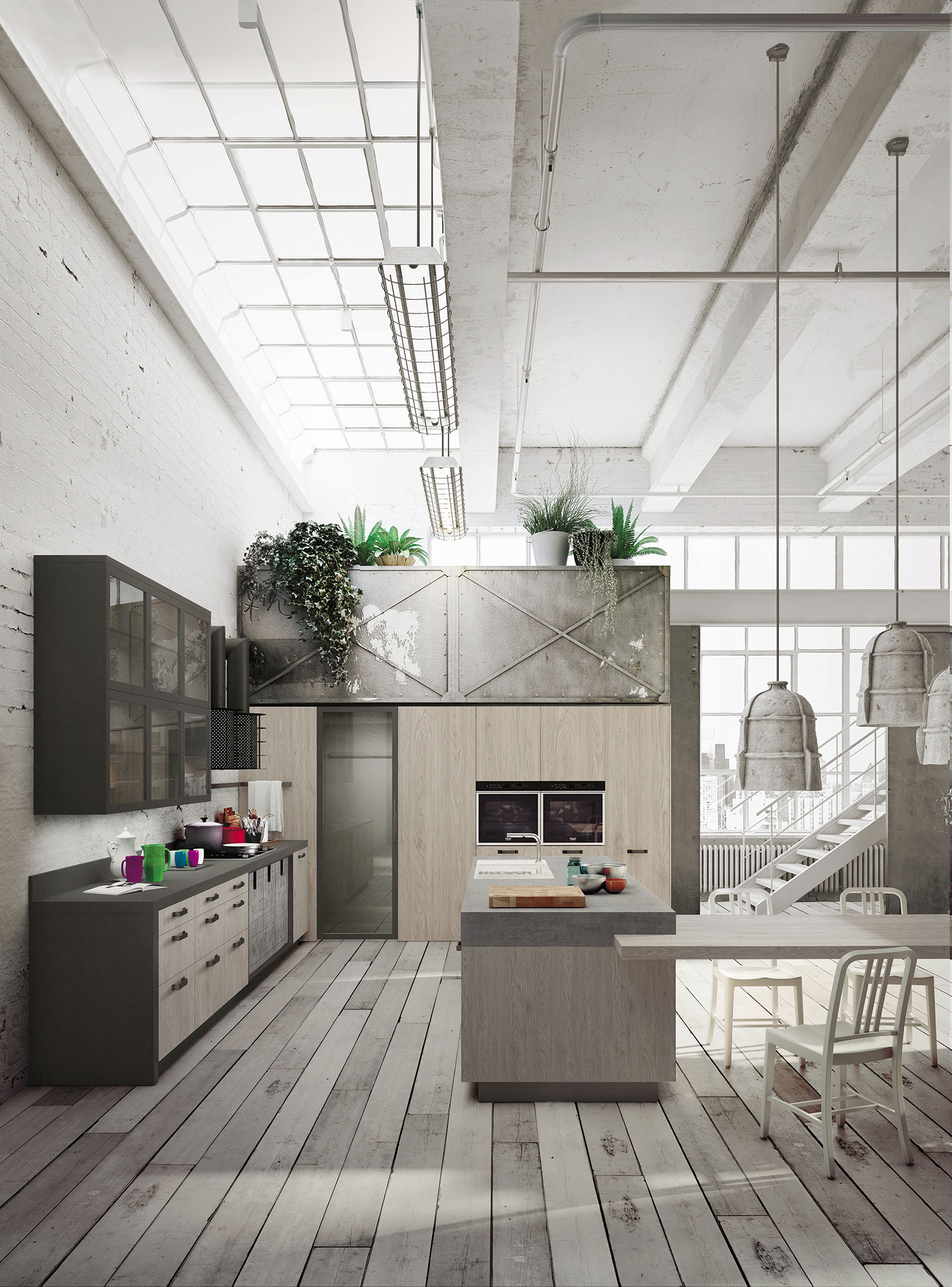 Expression Of The Latest Urban Trends Loft Kitchen
