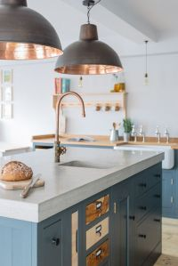 50 Blue Kitchen Design Ideas - Decoholic