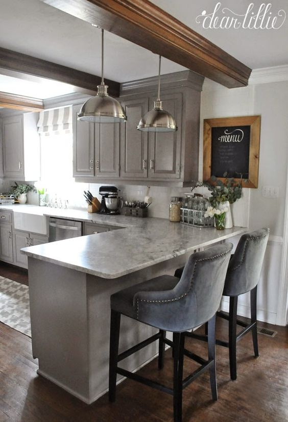 L Shaped Kitchen Layout Breakfast Bar