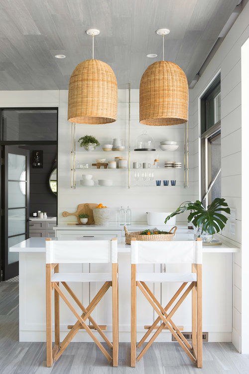 Kitchen Design Gray And White
