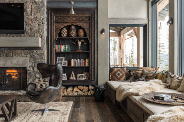 Log Cabin Style Meets Ethnic And Modern Interior Design Decoholic