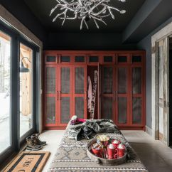 Living Room Design Ideas Open Floor Plan For Wall Colors In Log Cabin Style Meets Ethnic And Modern Interior ...