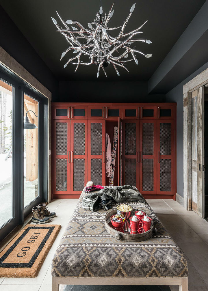 log cabin living room decorating ideas mirror style meets ethnic and modern interior design ...