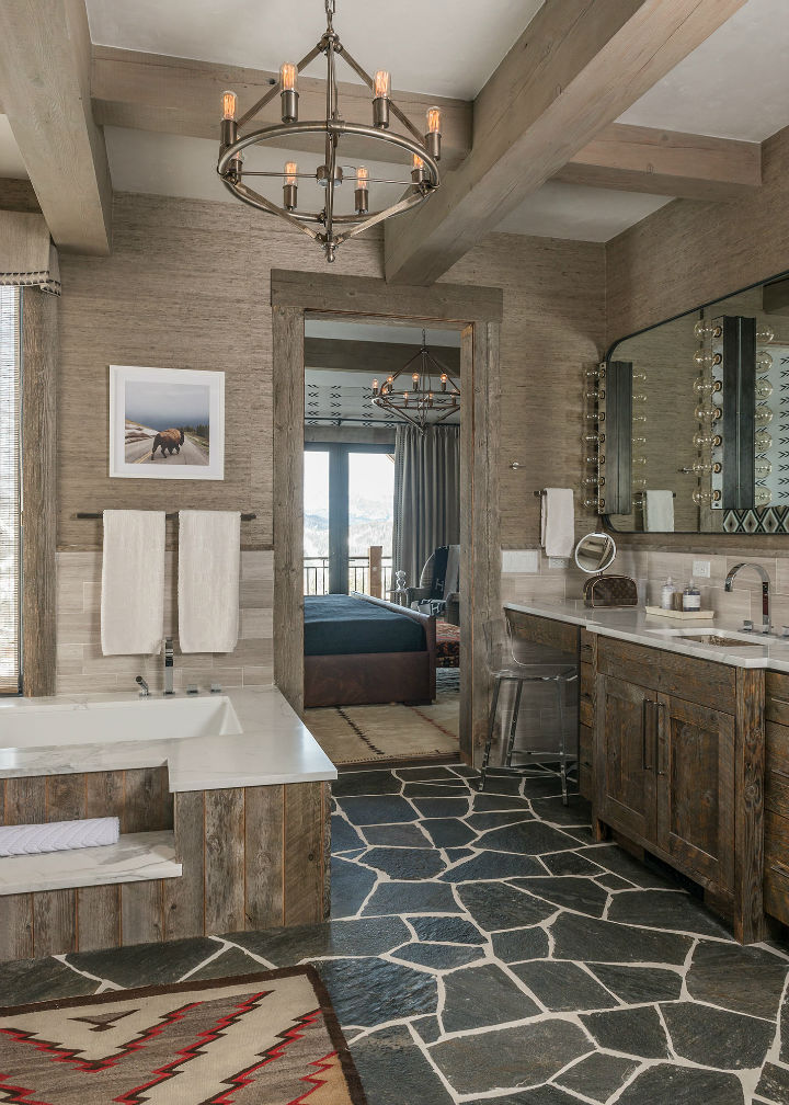 Log Cabin Style Meets Ethnic and Modern Interior Design ...