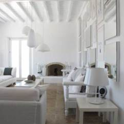 Interior Design For Living Room Small Modern Solid Wood Furniture Luxurious Villa In Mykonos, Greece - Decoholic