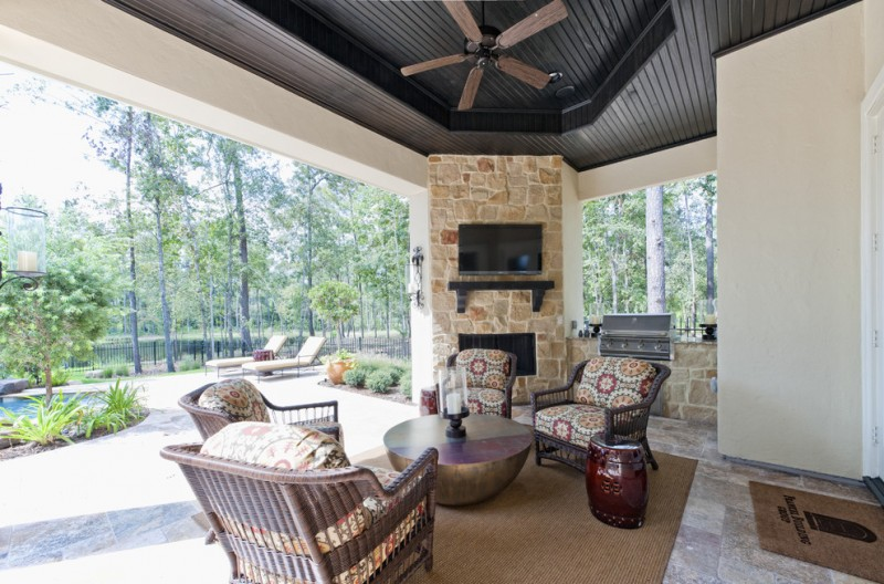 Patio Gas Fireplace Table Outdoor Corner Fireplace, A Great Warm Spot Outside Your