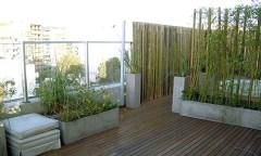 Decoración-del-balcón-con-bambú