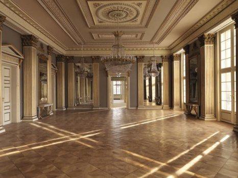 El sol entrando en el gran hall