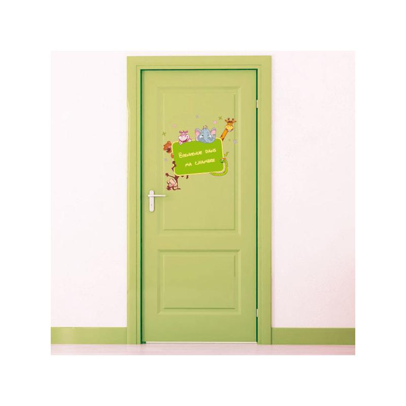 Sticker Bienvenue Dans Ma Chambre Jungle