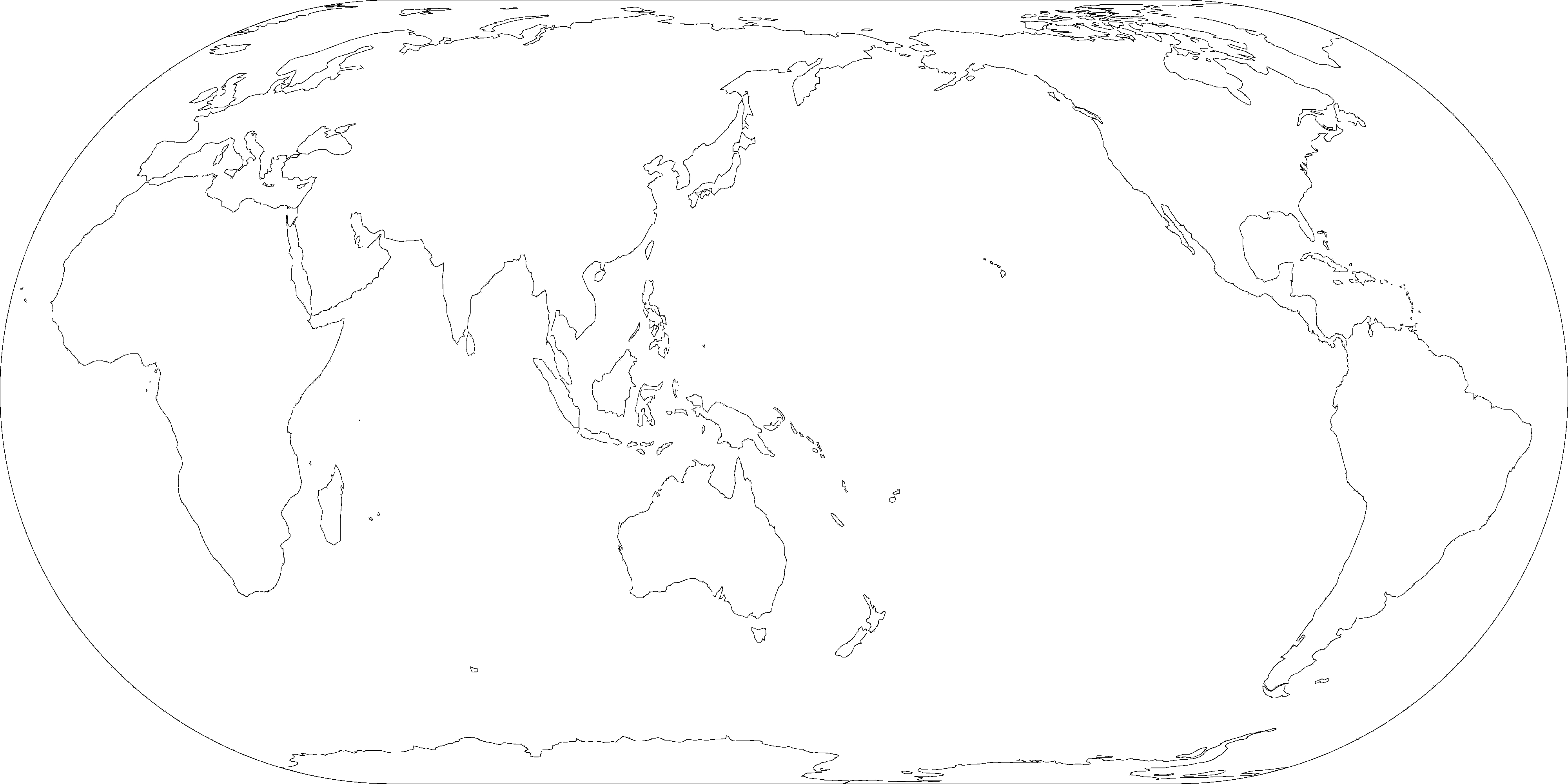 Blank Map Pacific Centered