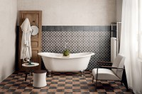 Classic mosaic as vintage bathroom floor tile ideas ...