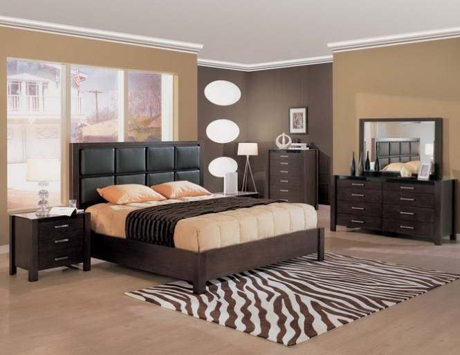 Best Paint Color For Bedroom With Dark Brown Furniture What Walls Go