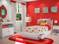 Red and white kids bedroom ideas | Decolover.net