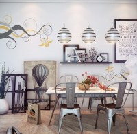 Dining room wall decor with abstract wall art painting ...