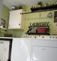 Unused photo frame for vintage laundry room wall decor ...