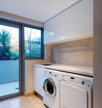 Small laundry room ideas with contemporary cabinet design ...