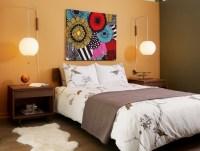 Brown cylinder hanging lamp for bedroom hanging light ...