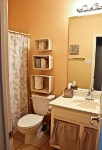 Black wooden free standing bathroom shelf over toilet ...