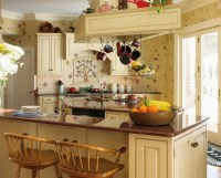 Country kitchen wall decor with decorative plastic flower ...