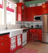 Strawberry kitchen decoration with printed kitchen ...