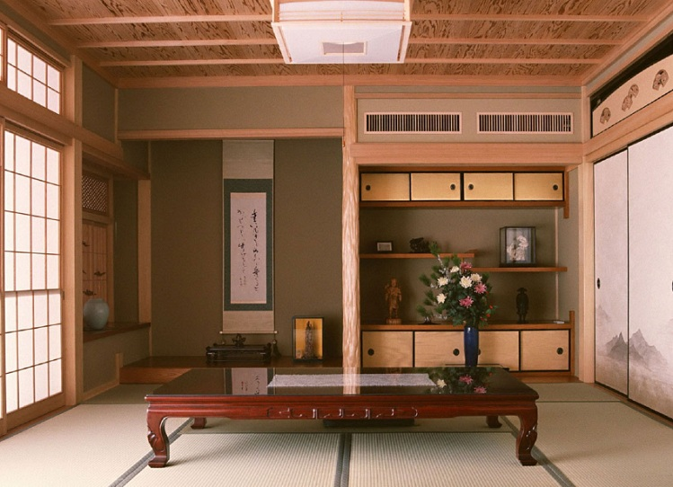 futon style living room photo curtains japanese ideas with wooden table and mattress other related images gallery