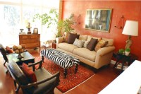 Simple african themed living room ideas
