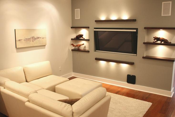 Small tv room ideas with good lighting design