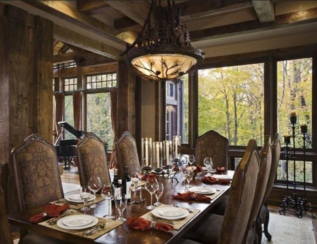 Vintage dining room lighting ideas wih vintage metal lamp