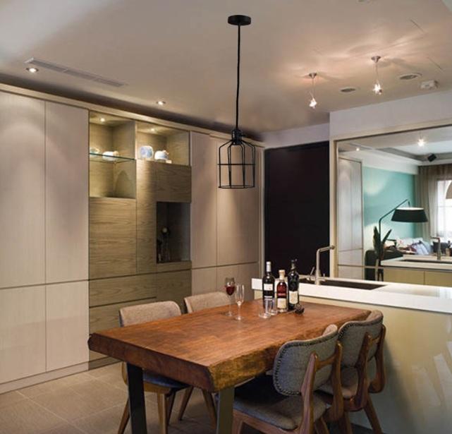Vintage dining room lighting ideas wih vintage bronze