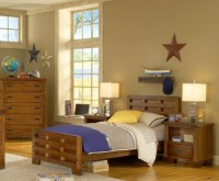 Beige paint colors for boys bedroom with wooden furniture ...