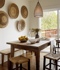Country dining room decor with cottage industry wall art ...