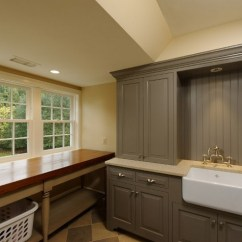 Kitchen Counter Ideas Flat Front Cabinets Gray Paint Color For Laundry Room With White Furniture ...