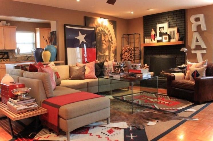 Western Living Room Decor For Cowboys Fans  Decolovernet