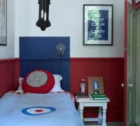 Red and blue wall paint for boys bedroom | Decolover.net