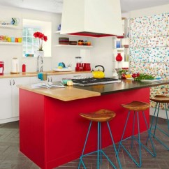 Blue Kitchen Chairs Taps Red White And Decor With Unique