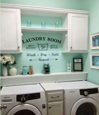 Bright color wall paint decor for laundry room | Decolover.net