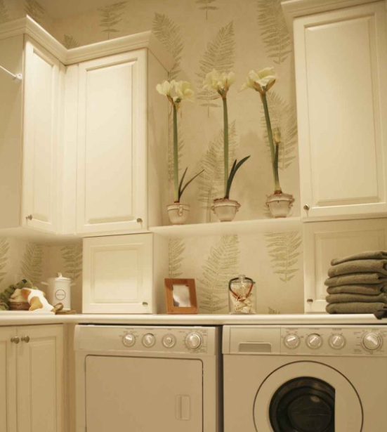 Bright Color Wall Paint Decor For Laundry Room