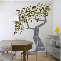 Tree wall painting wall art for dining room ideas ...